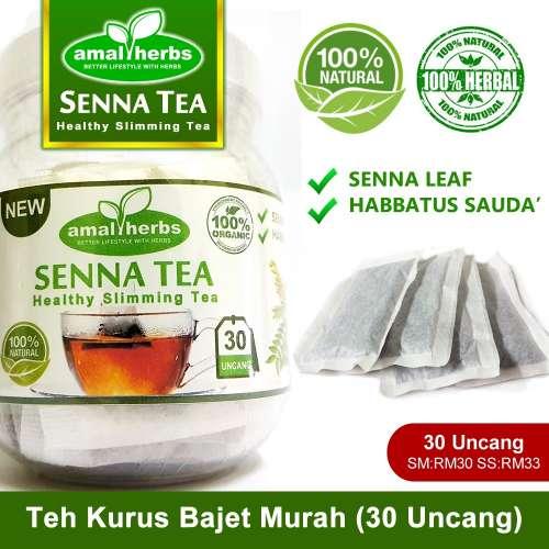 teh senna kurus langsing kempis perut, mujarab kencing manis, darah tinggi,